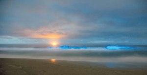 AFPOMBAK kelihatan berwarna biru di Pantai Stanwell Park, Sydney pada Rabu lalu