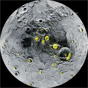 AFPGAMBAR menunjukkan bahagian utara planet Utarid.